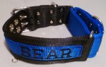 "2"" DualGrip Collar, Stripe/Embroidery/Grip Section diff color"
