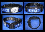 "2"" K9 DualGrip Collar, Stripe & Embroidery & Badge"
